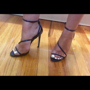 Brian Atwood Labrea snakeskin heels